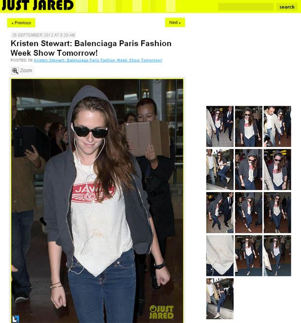 Kristen Stewart (Foto: Reprodução/ Just Jared)