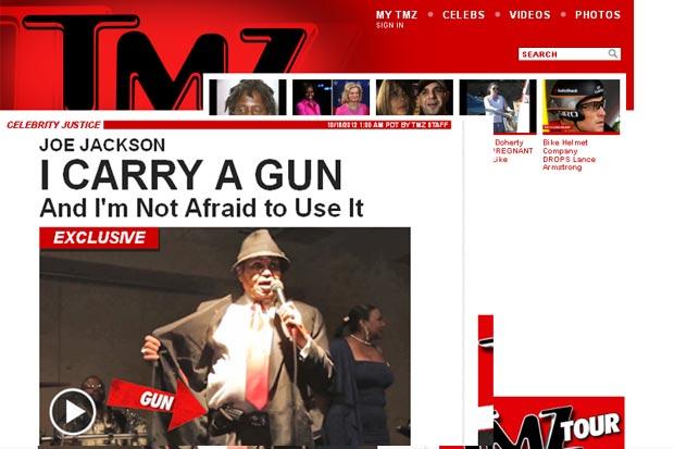 Joe Jackson é flagrado com arma (Foto: Reprodução/TMZ)