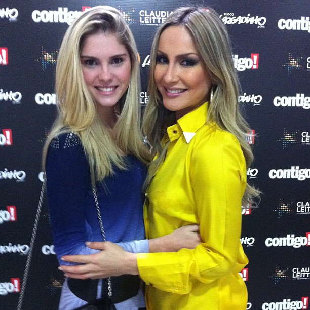 Bárbara Evans e Claudia Leitte antes de show da cantora no Rio (Foto: Instagram/ Reprodução)