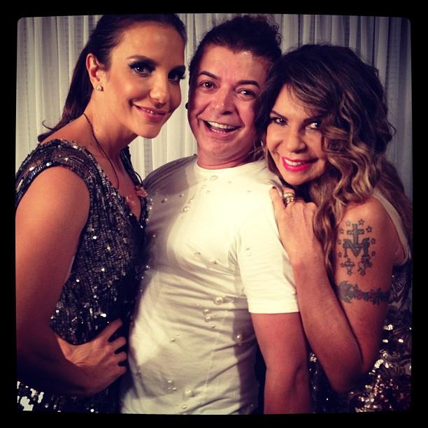 Ivete Sangalo, David Brazil e Elba Ramalho (Foto: Instagram/ Reprodução)