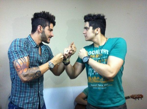 Gusttavo Lima e Luan Santana (Foto: Instagram/ Reprodução)