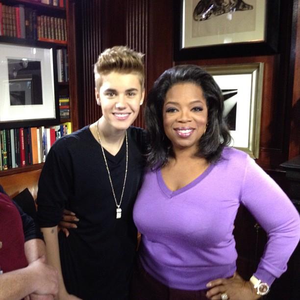 Justin Bieber e Oprah Winfrey (Foto: Instagram/Reprodução)