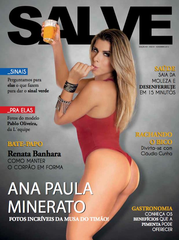 """Ana Paula Minerato na capa da revista """"Salve Jorge"""" (Foto: Divulgação /  Fausto Saez)"""