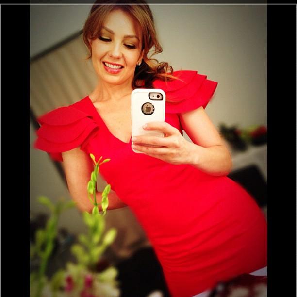 Thalia exibe modelito para fãs (Foto: Instagram)