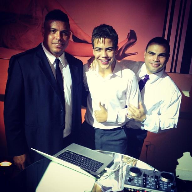 Ronaldo, Ronald e Nélio  (Foto: Reprodução/Instagram)