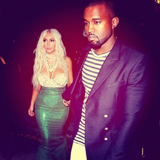Kim Kardashian e Kanye West em festa de Halloween em Nova York (Foto: Reprodução/Instagram)