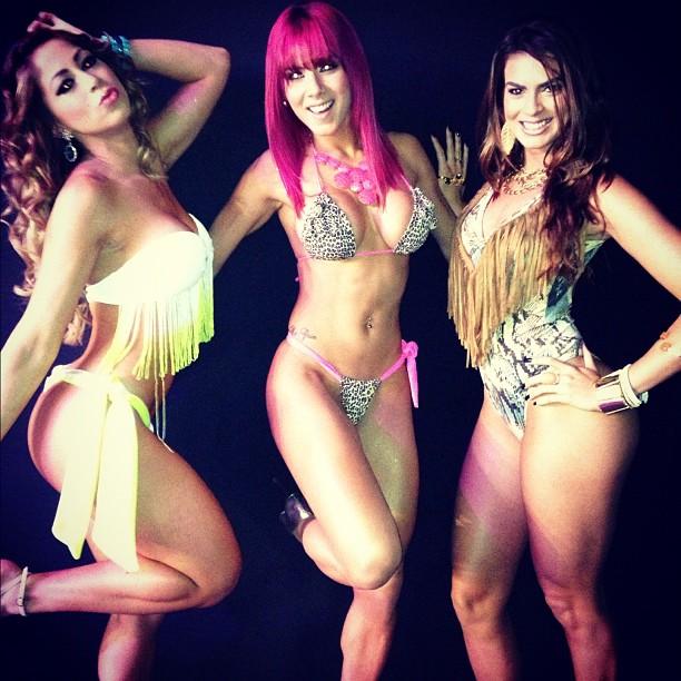 Carol Narizinho, Thaís Bianca e Renata Molinaro posam de biquíni (Foto: Reprodução/ Instagram)