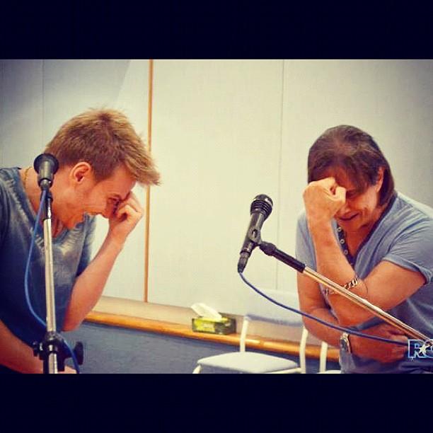 Michel Teló e Roberto Carlos (Foto: Instagram / Reprodução)