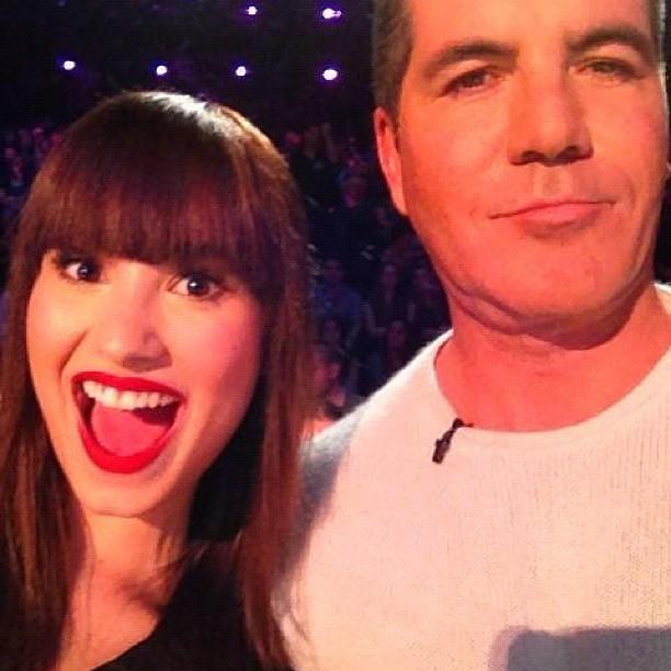 Os jurados do 'The X Factor' Demi Lovato e Simon Cowell (Foto: Instagram/ Reprodução)