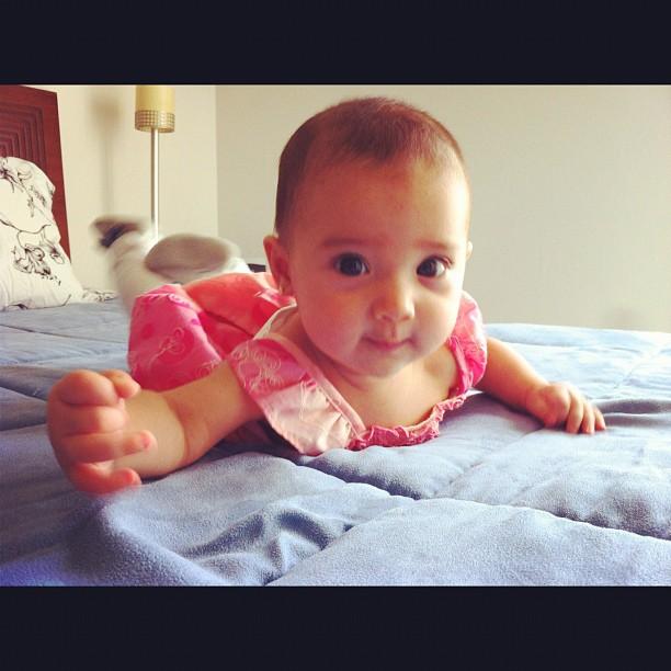 Marido de Mel Lisboa posta foto da filha (Foto: Reprodução/Instagram)