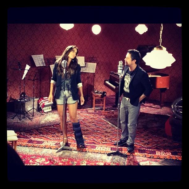 Ivete Sangalo e Alejandro Sanz (Foto: Reprodução/Instagram)