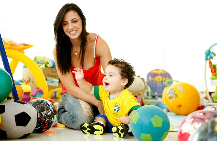 Daniela Cavalieri é mãe de Enzo, 1 ano e três meses, do seu casamento com o goleiro do Fluminense Diego Cavalieri