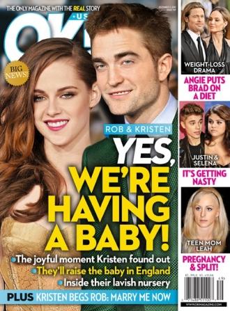 Kirsten Stewart e Robert Pattinson  (Foto: Divulgação / OK! Magazine)