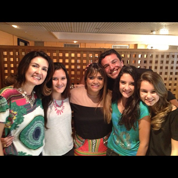 Fatima Bernardes, Preta Gil e Rodrigo Lombardi no Projac (Foto: Instagram/Reprodução)