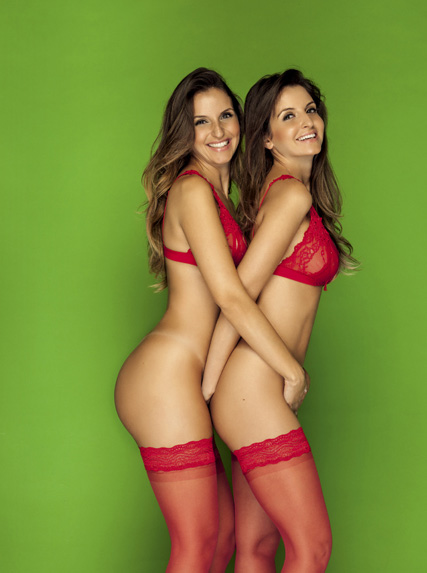 Debora e Denise Tubino (Foto: Playboy / Divulgação)