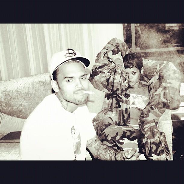 Chris Brown e Rihanna (Foto: Reprodução/Instagram)