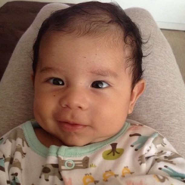 Dentinho posta foto do filho, Bruno Lucas (Foto: Reprodução/Instagram)