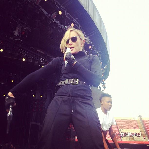 Madonna ensaiando para show em SP (Foto: Instagram / Reprodução)