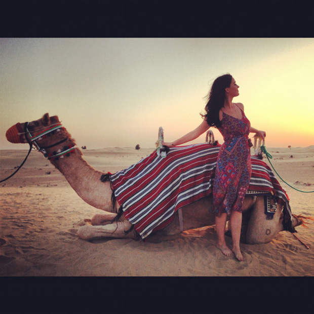 Katy Perry posta foto em Dubai (Foto: Twitter / Reprodução)