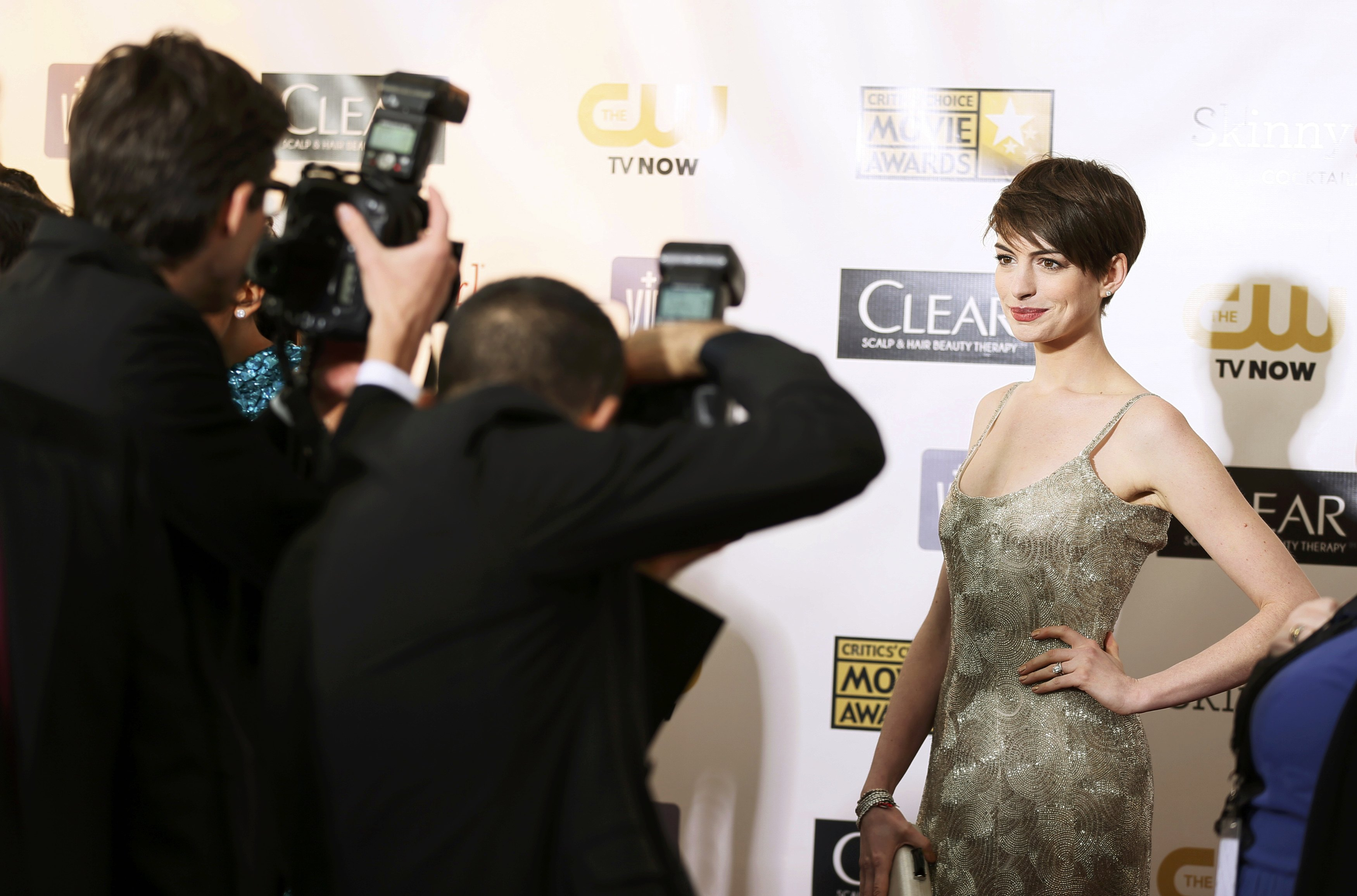 Anne Hathaway no Critic&#39;s Choice Awards em Santa Monica, nos Estados Unidos