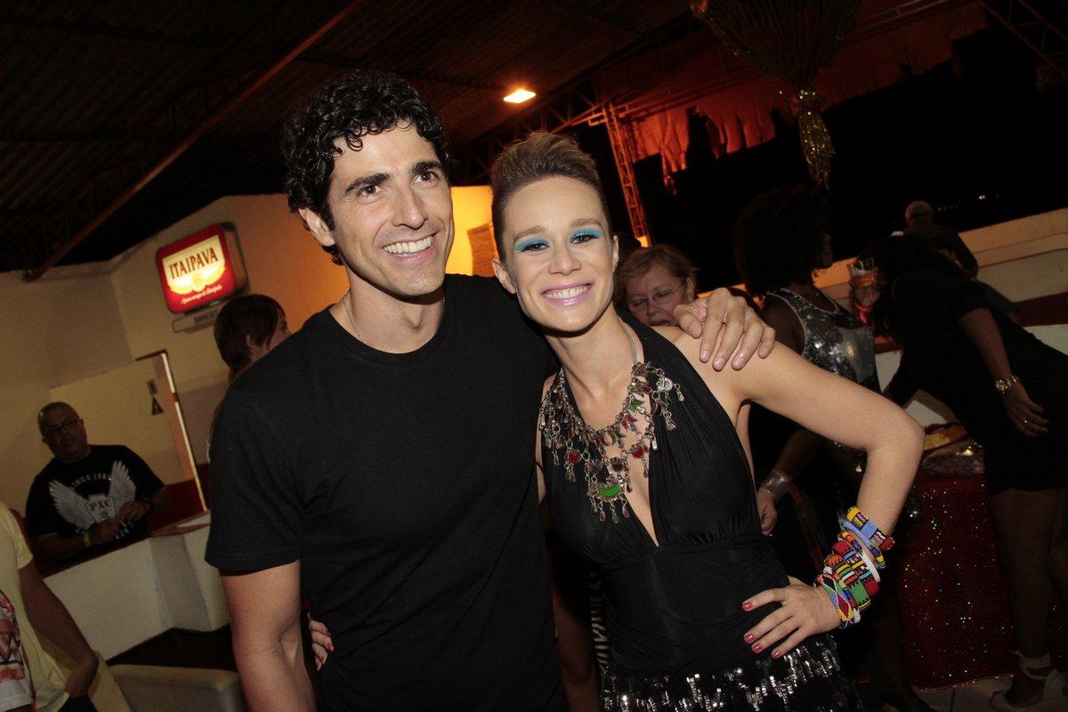 Reynaldo Gianecchini e Mariana Ximenes na quadra da Viradouro