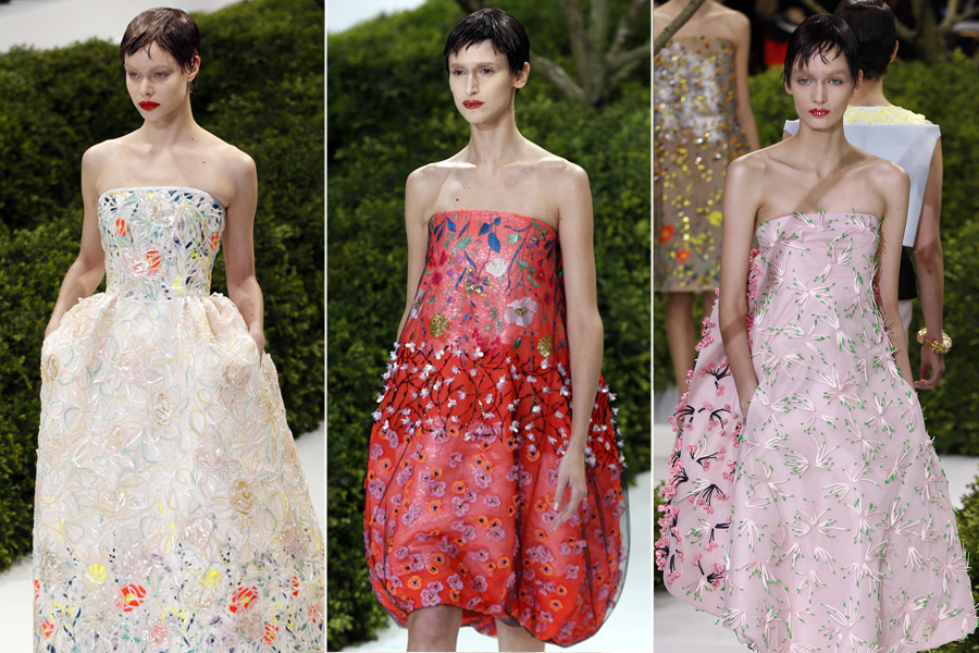 Mais looks do desfile de alta-costura da Christian Dior