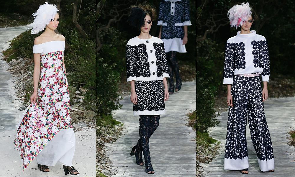 Mais looks desfilados na passarela de alta-costura da Chanel