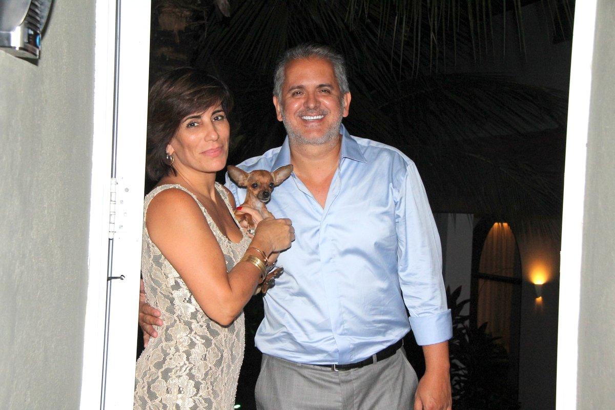 Glória Pires no aniversário do marido, Orlando Morais, no Rio