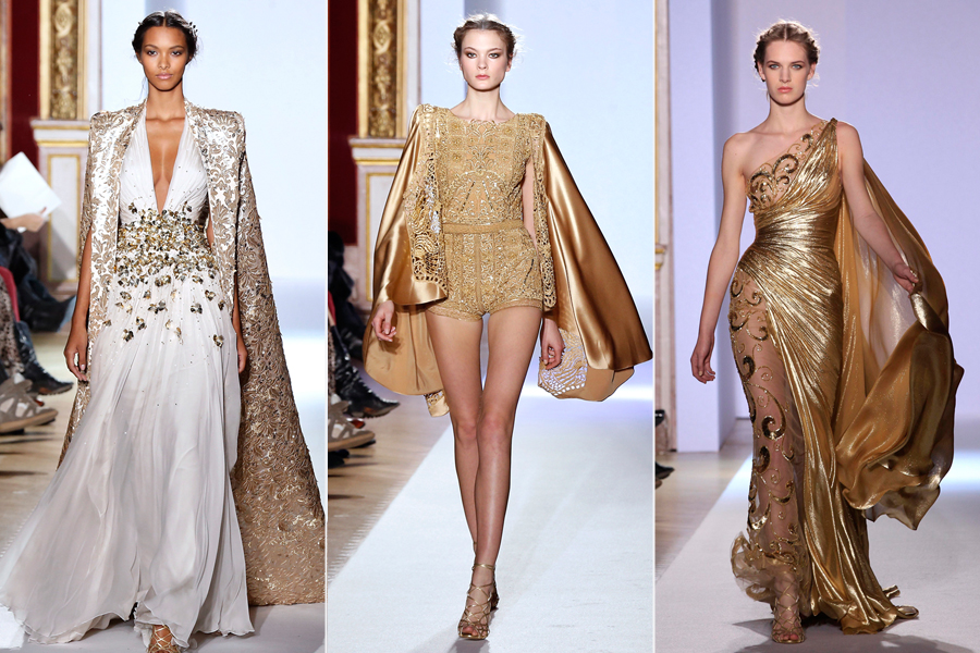 Para sua primeira coleção couture, o estilista libanês apostou em seu estilo naturalmente barroco