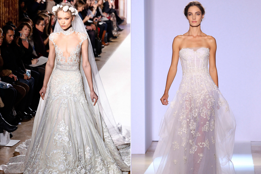 Ao final, a noiva idealizada pelo libanês veio romântico, com vestido rendado e coroa de flores na cabeça