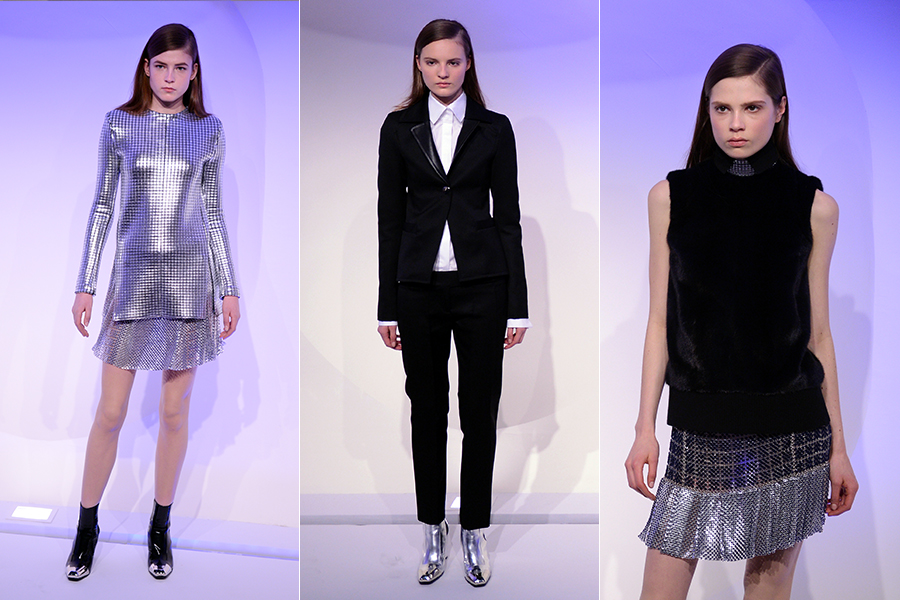A Paco Rabanne apresentou uma coleção inspirada no estilo mod dos anos 60 e que teve a francesa Françoise Hardy como musa