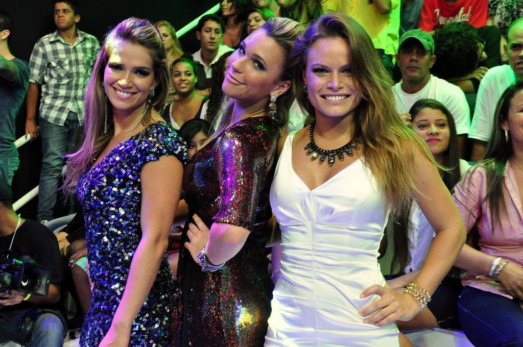 Ex-BBBs Fani, Marien e Natalia na final do 'BBB 13'