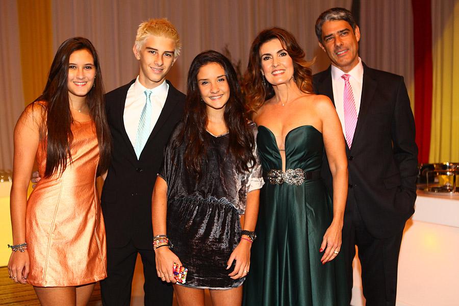 Fatima Bernardes, Willian Bonner e filhos