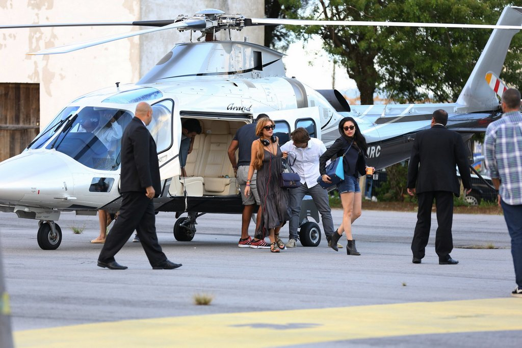 Lindsay Lohan desembarca em Florianópolis