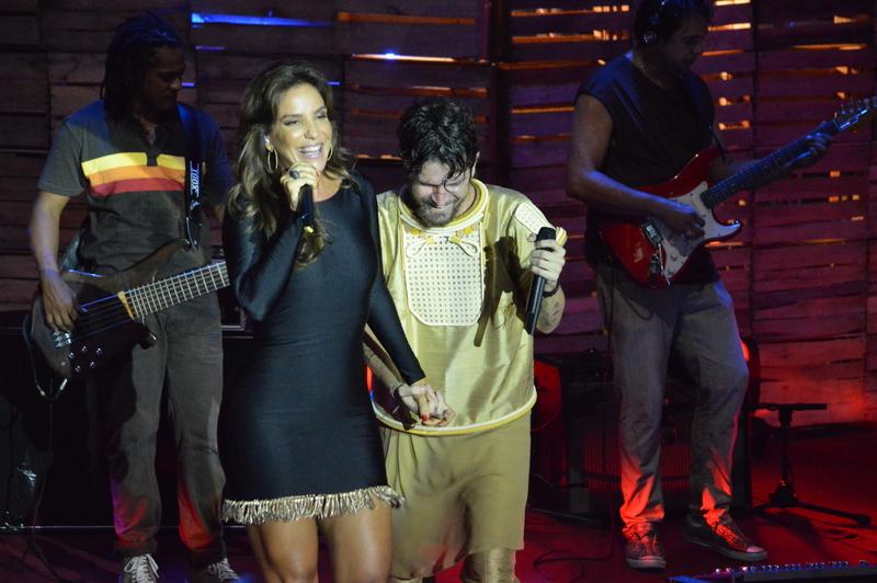 Ivete Sangalo na gravação do DVD de Saulo