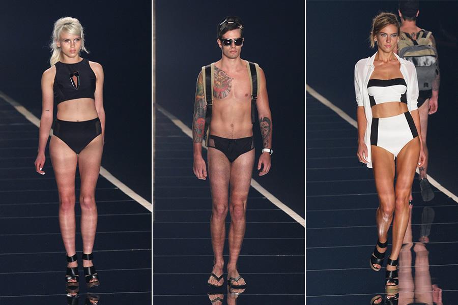 Ausländer entra na passarela com seu estilo beachweare para encerra a 23ª edição do Fashion Rio