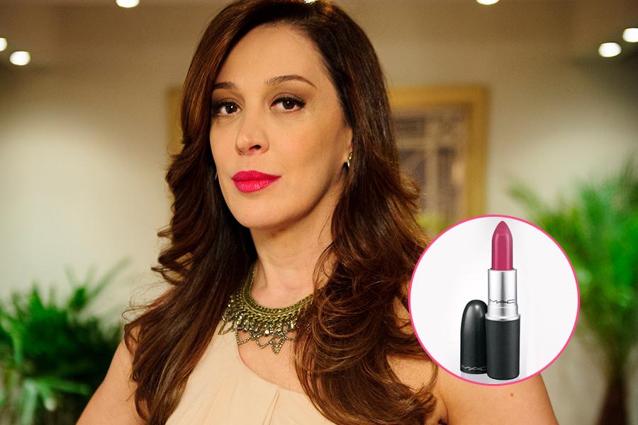 """O batom rosa pink usado por Claudia Raia em """"Salve Jorge"""" é da MAC na cor Girl About Town (R$79)"""