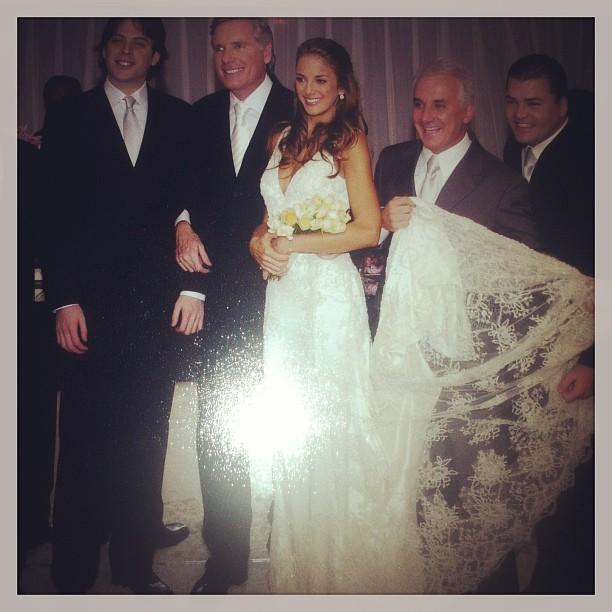 Ticiane Pinheiro e Roberto Justus se casaram no dia 20 de maio de 2006, em São Paulo