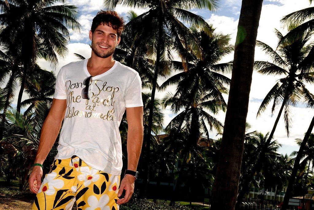 André Martinelli posa para o EGO na Costa do Sauípe.