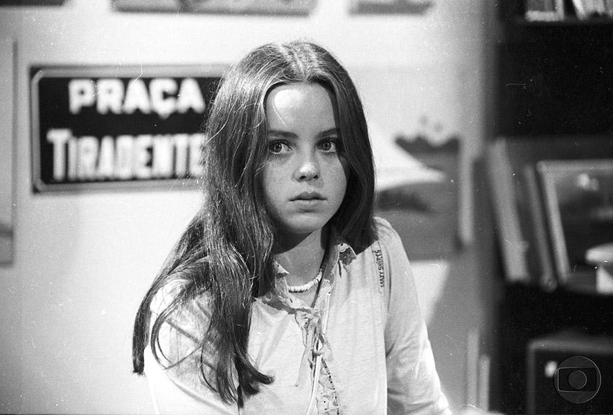 """Élida L'Astorina em sua primeira novela da Rede Globo, """"Pecado rasgado"""". O ano era 1978"""
