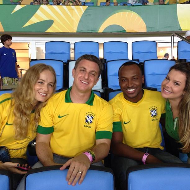 Angélica, Luciano Huck, Fernanda Souza e Thiaguinho
