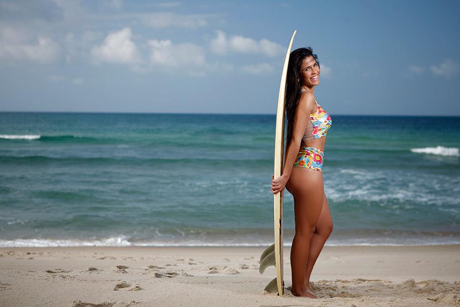 Dani Rodrigues participava de campeonatos amadores de surfe pelo Brasil quando morava no Sul