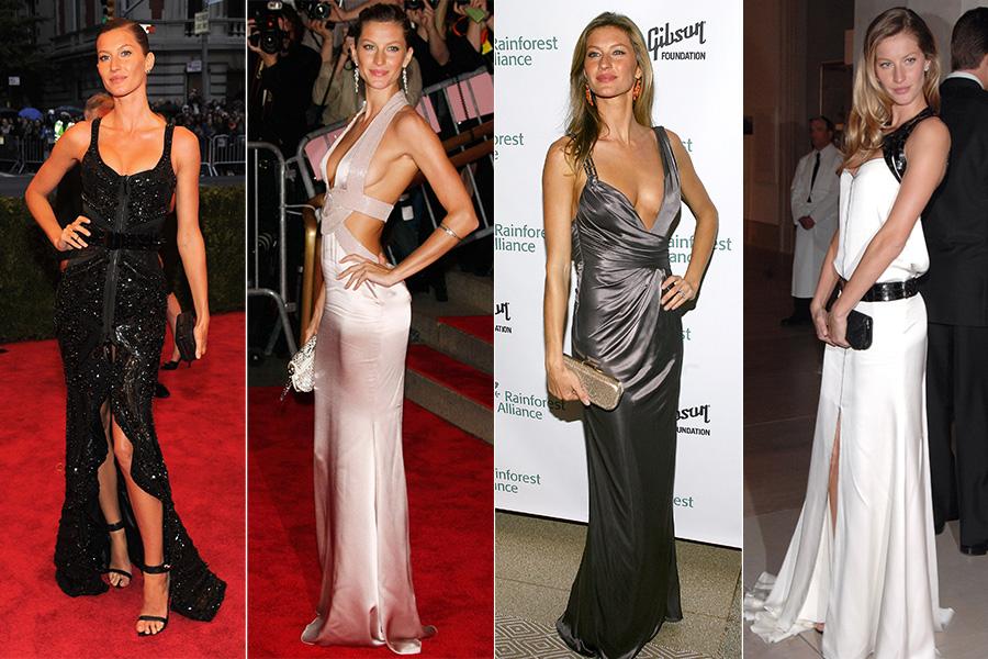Uma das maiores tops do mundo, Gisele Bündchen faz jus ao título em seus looks de gala: fendas, decotes e recortes são regra e só valorizam o físico invejável da brasileira
