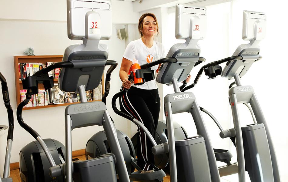Renata Celidônio se exercita todos os dias em academia na Zona Sul do Rio