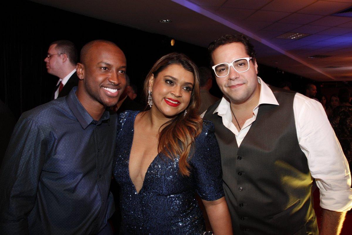 Thiaguinho, Preta Gil e Tiago Abravanel em festa do Prêmio Multishow, no Rio