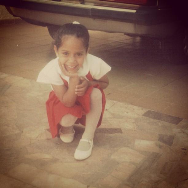 Mulher Melão quando criança