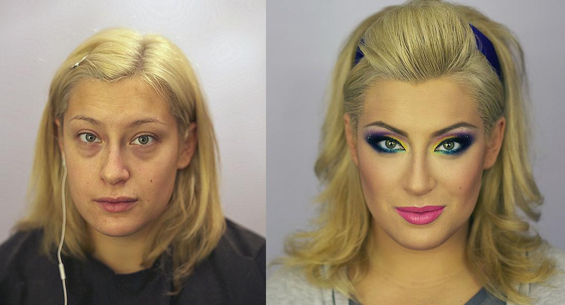 Fim das olheiras, pele perfeita e foco no olhar foram alguns dos truques feitos pelo maquiador russo Vadim Andreev