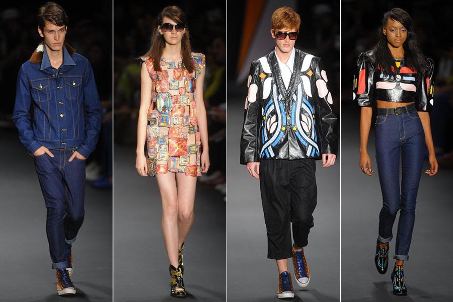 Segundo a consultora de moda Heloisa Marra, a Amapô resgatou a inocência do interior boiadeiro, alternando looks femininos e masculinos
