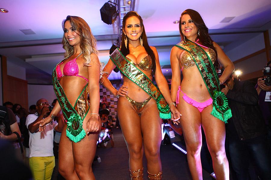 Eliana Amaral, Dai Macedo e Jessica Amaral na final do Miss Bumbum 2013