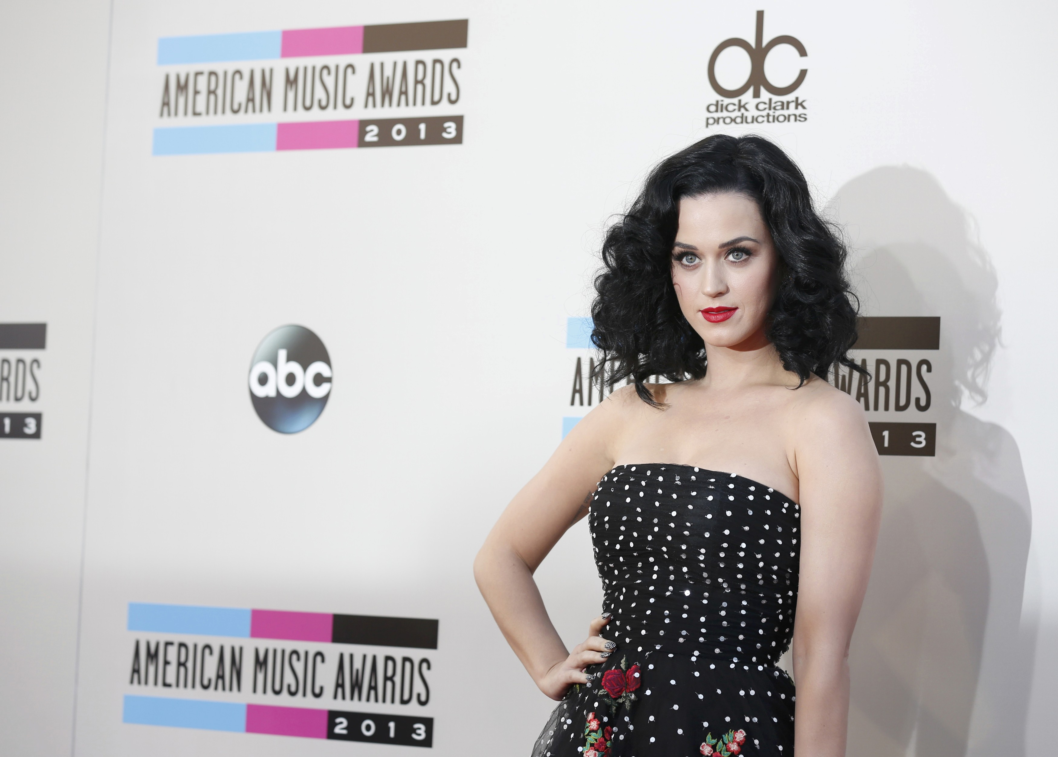 Katy Perry no American Music Awards em Los Angeles, nos Estados Unidos